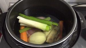 verduras en olla