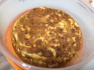 tortilla de patatas con cebolla en olla rápida newchef
