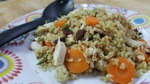 Plato de quinoa cocinado