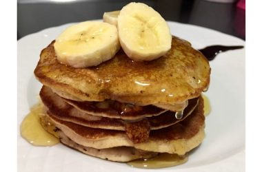 Tortitas de avena y plátano sin gluten