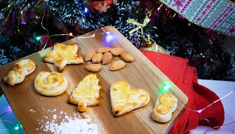Mazapanes sin gluten arbol de navidad