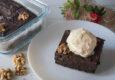 receta brownie casero de nueces y plátano
