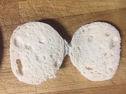 la miga del pan al vapor