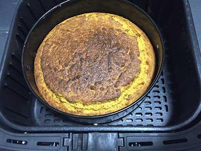 Carrot cake cocinada en freidora de aire
